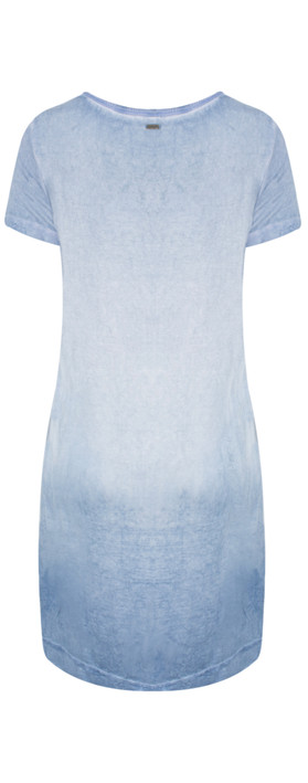 Sandwich Clothing Distressed Dye Tunic  Washed Blue