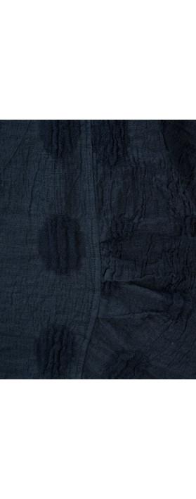 Grizas Linen Spot Short Sleeve Top 421 Navy