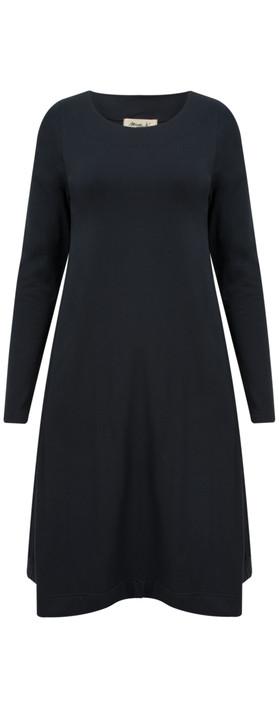 Mama B Corinne Wide Hem Dress Oltreblu-dark blue