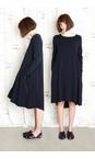 Mama B Oltreblu-dark blue Corinne Wide Hem Dress
