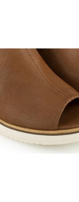 Tamaris  Leather Mule Sandal Cognac