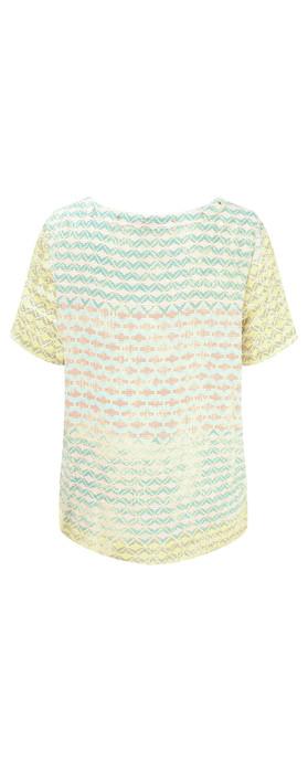 Sandwich Clothing Diamond Check Short Sleeve Blouse Ocean Blue