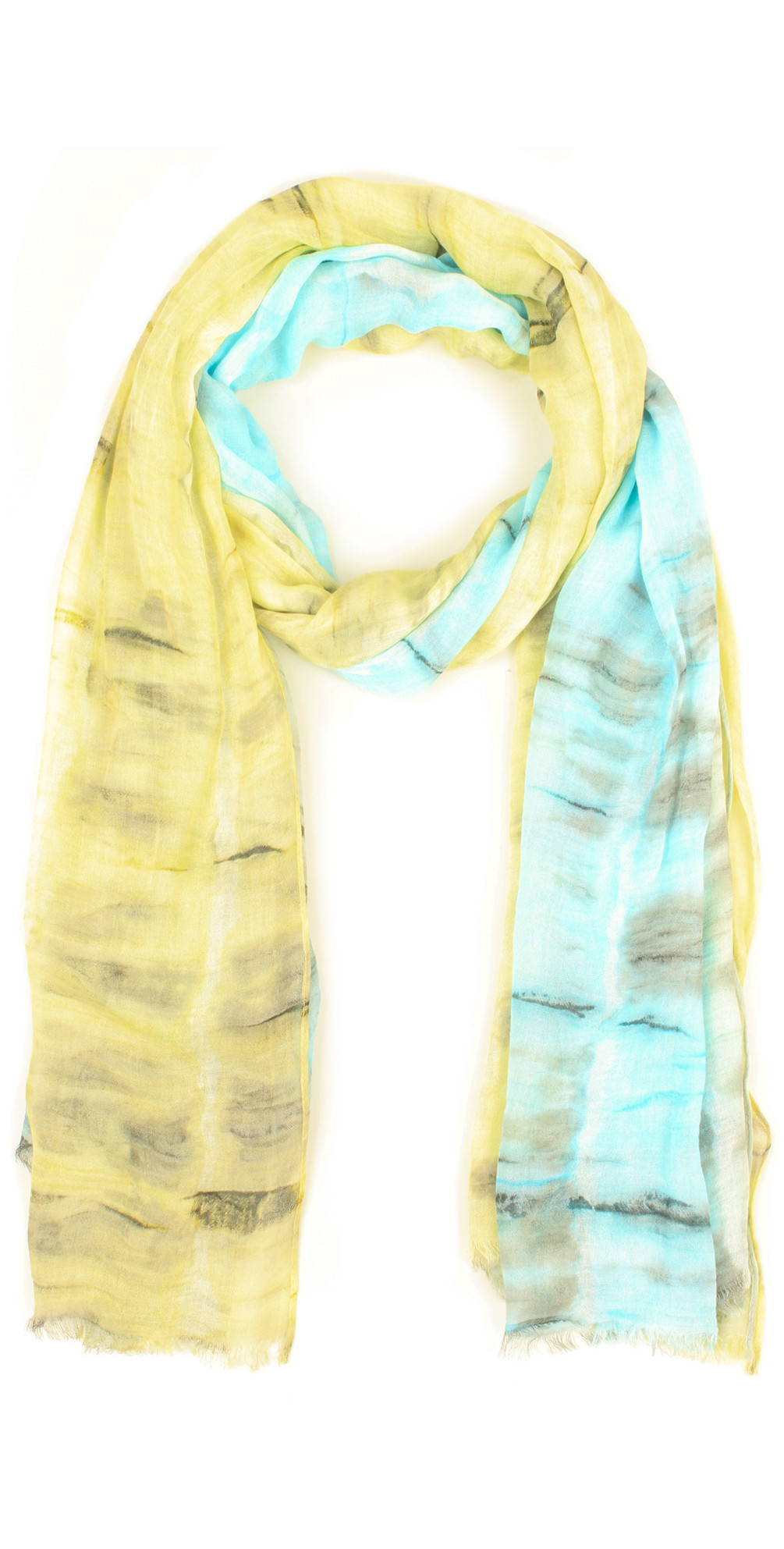 Two Tone Tie Dye Scarf main image