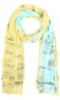Sandwich Clothing Washed Jade Two Tone Tie Dye Scarf