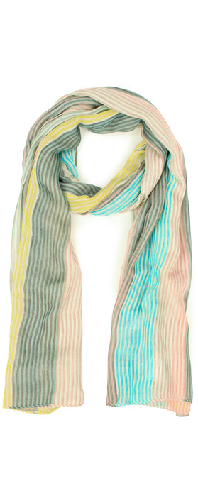 Sandwich Clothing Striped Multicoloured Scarf Faded Sand