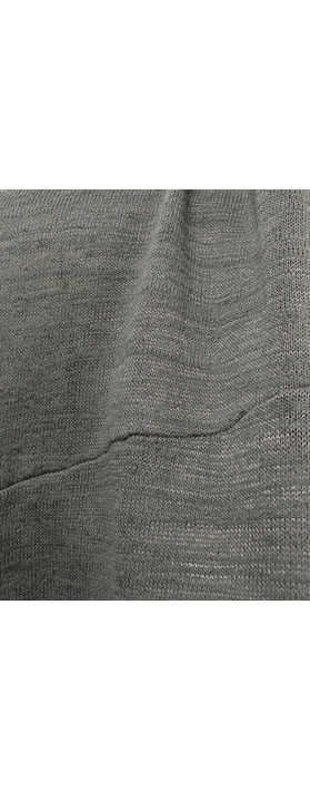 Sandwich Clothing Urban Folk Longline Jersey Short Sleeve Jacket Smoke Grey