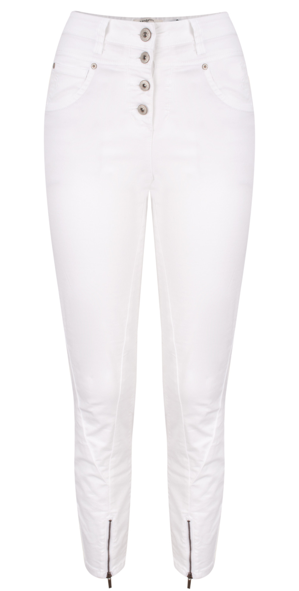 High Waist Stretch 7/8 Casual Trousers main image