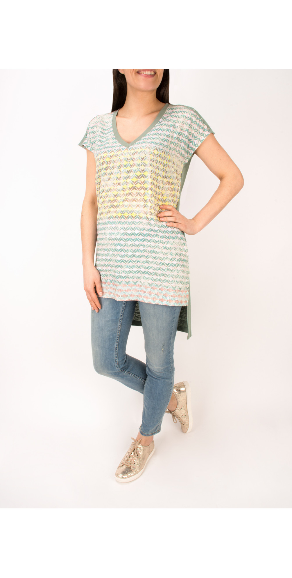 Diamond Check Longline Tunic main image