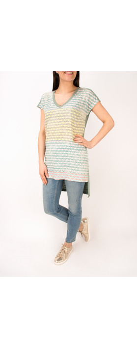 Sandwich Clothing Diamond Check Longline Tunic Ocean Blue
