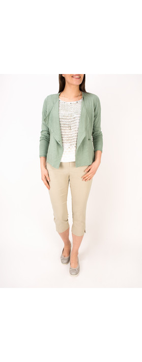 Sandwich Clothing Cotton Slub Jersey Cardigan Washed Jade