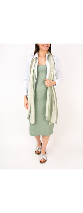 Sandwich Clothing Slub Jersey Dress With Pocket Washed Jade