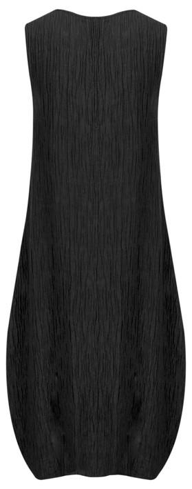 Grizas Silk Crinkle Sleeveless Balloon Dress Black