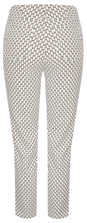Robell Trousers Bella 09 Graphic Print Beige