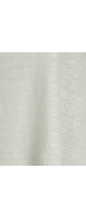 Mama B Beth Slub Linen Top Elicriso-stone grey
