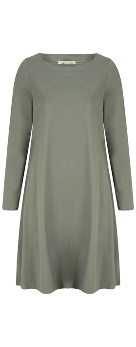 Mama B Auras Tunic Dress Salvia-dark sage green