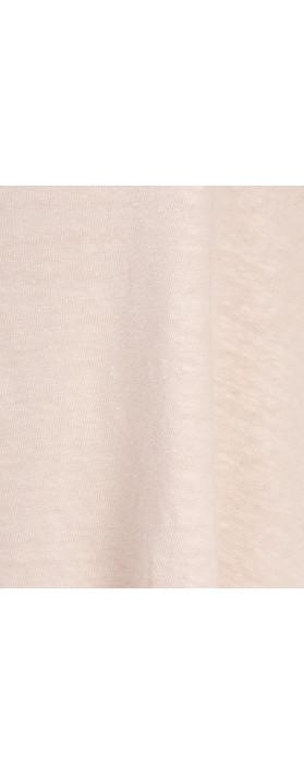 Mama B Beth Slub Linen Top Rose Smoke-lilac pink