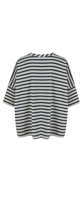 Mama B Beth Stripe Top Stripe Blue