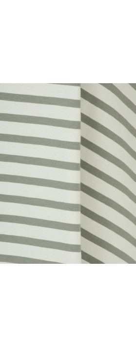Mama B Beth Stripe Top Stripe Sage
