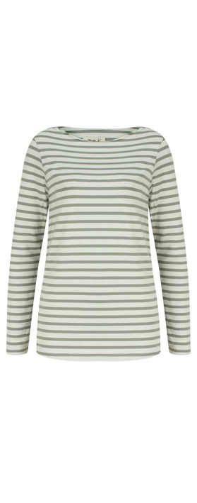Mama B Gagia Stripe Top Stripe Sage