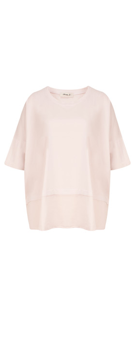 Mama B Oversized Lexi Top Rose Smoke-lilac pink
