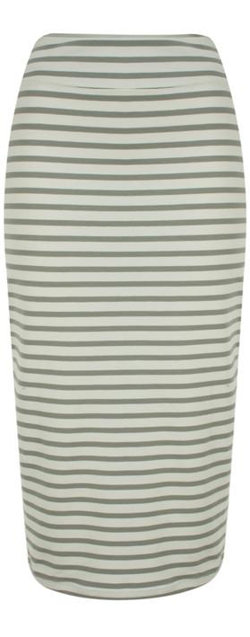 Mama B Lilla Stripe Skirt Stripe Sage