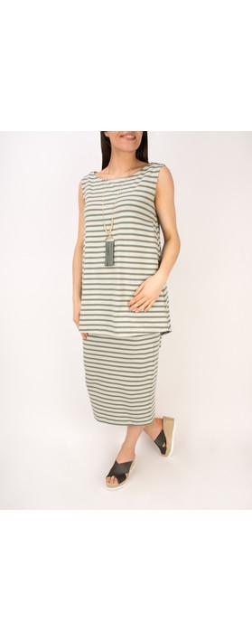 Mama B Cipro Stripe Top Stripe Sage