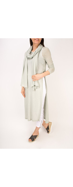 Mama B Inca Slub Linen Tunic Dress Elicriso-stone grey
