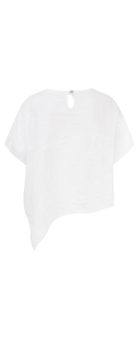 TOC  Bobbie Linen Asymmetric Top White