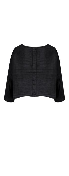 TOC  Birtie Linen Button Front Jacket Navy