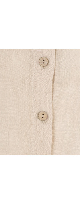 TOC  Birtie Linen Button Front Jacket Stone