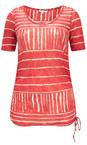 Sandwich Clothing Summer Rose Line Print Drawstring Hem Top