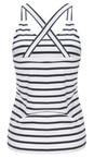 Sandwich Clothing Almost Black Essentials Jersey Striped Vest
