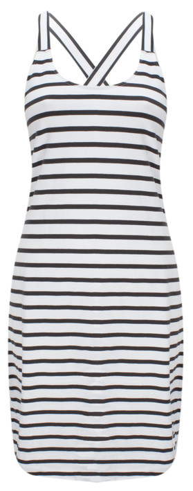 Sandwich Clothing Jersey Striped Longline Vest Almost Black