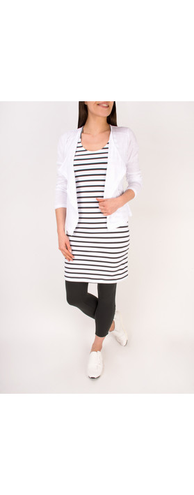 Sandwich Clothing Cotton Slub Jersey Cardigan Pure White