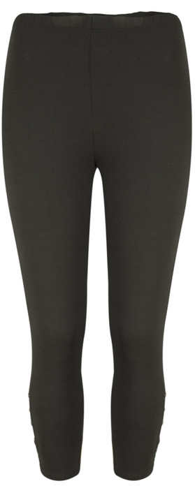 Sandwich Clothing Jersey Button Detail Legging  Almost Black