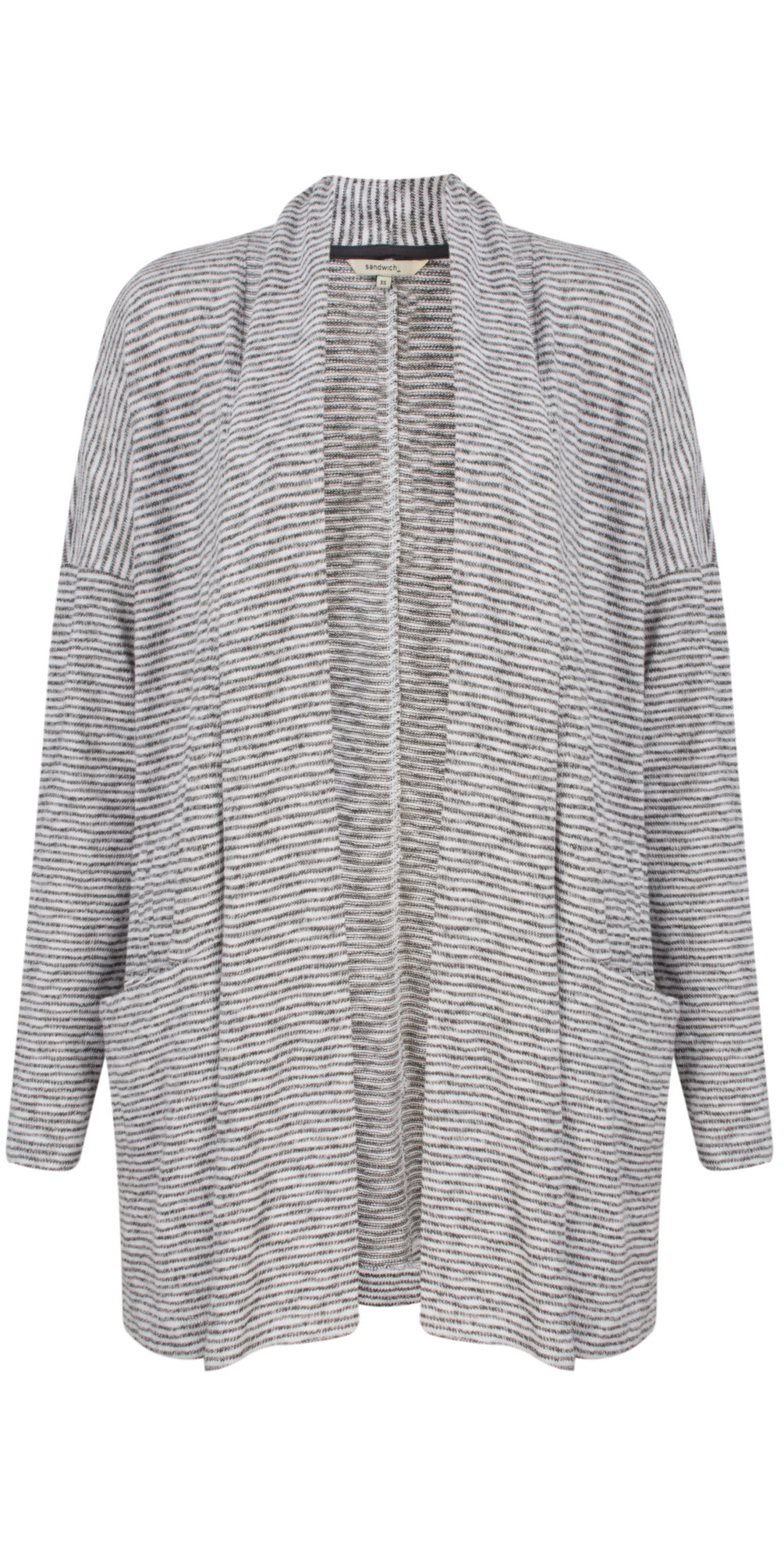 Woven Striped Jersey Cardigan main image