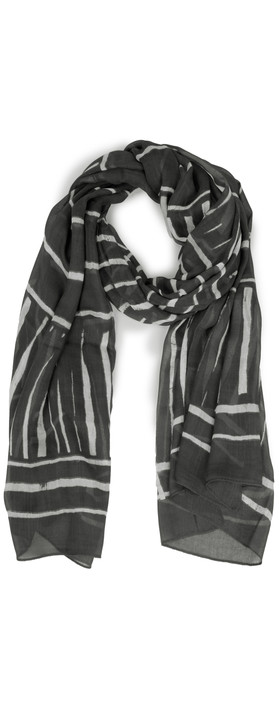 Sandwich Clothing Desert Sunset Line Print Scarf Almost Black