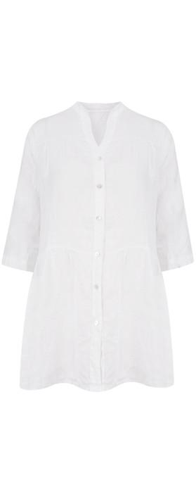 TOC  Della Oversized Tunic Shirt White