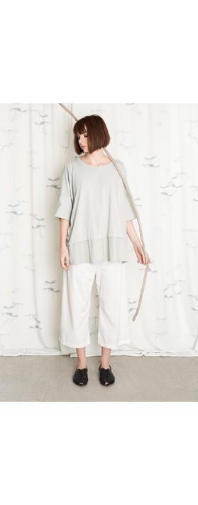 Mama B Oversized Lexi Top Nuvola-grey