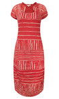 Sandwich Clothing Summer Rose Stripe Print Crinkle Dress