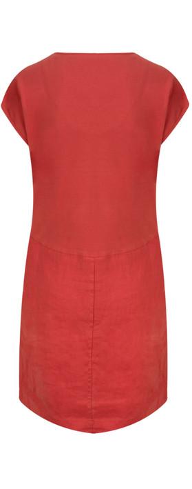 Sandwich Clothing Linen Tie Detail Dress Summer Rose