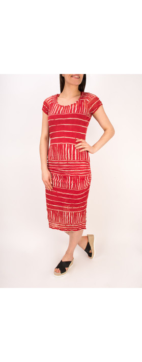 Sandwich Clothing Stripe Print Crinkle Dress Summer Rose