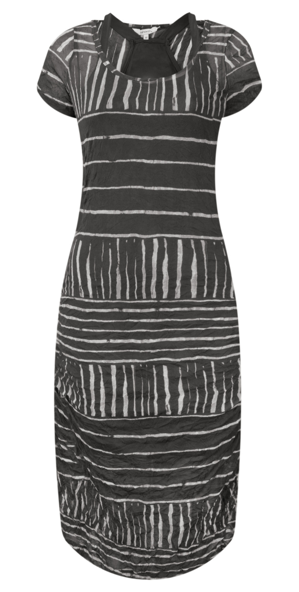 Stripe Print Crinkle Dress main image