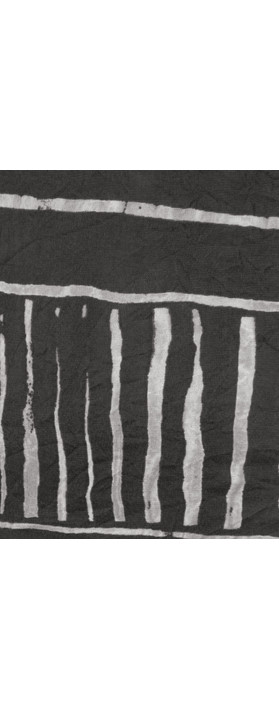 Sandwich Clothing Stripe Print Crinkle Dress Almost Black