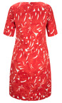 Sandwich Clothing Summer Rose Woven Cotton Print Dress