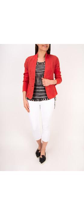 Sandwich Clothing Linen Mix Blazer Summer Rose