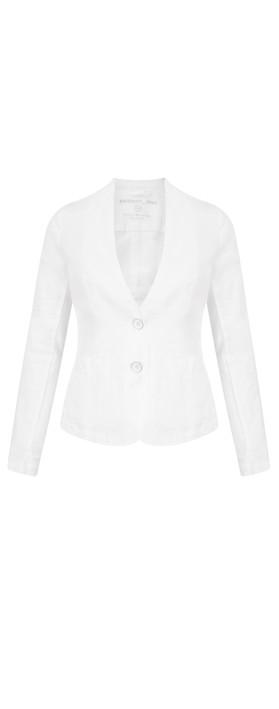 Sandwich Clothing Linen Mix Blazer Pure White
