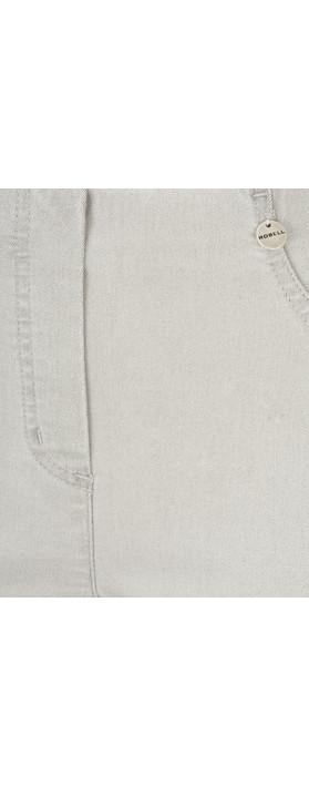 Robell Trousers Bella Slim Fit Jean Light Grey
