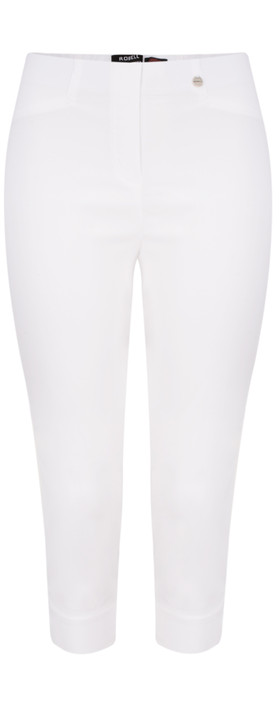 Robell Trousers Rose 07 Slimfit Cropped Trouser White