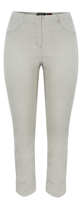Robell Trousers Bella 7/8 Cropped Jean Light Grey